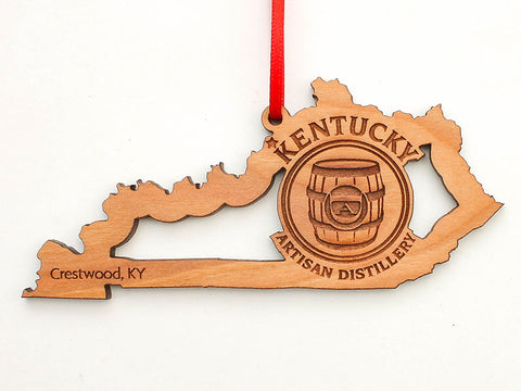 Kentucky Artisan Distillery Kentucky State Logo Insert Ornament