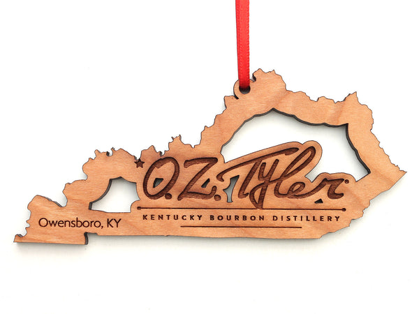 O.Z. Tyler Kentucky Bourbon Distillery Kentucky Logo Insert Ornament