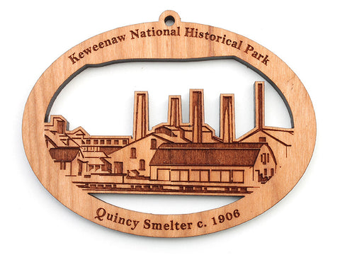 Isle Royal Keweenaw National Historic Park Custom Ornament - Nestled Pines