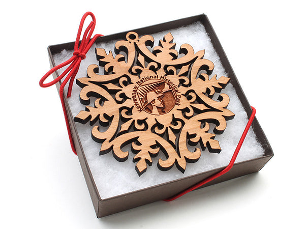 Isle Royal Keweenaw Custom Snowflake Ornament - Nestled Pines