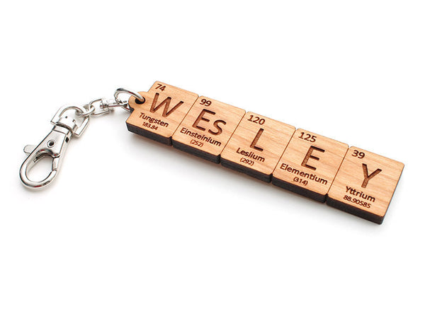 Custom Periodic Table of Elements Name Key Chain - Nestled Pines - 2