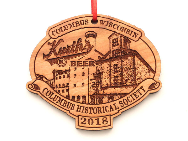 Columbus Historical Society Kuth's Beer Oval Ornament