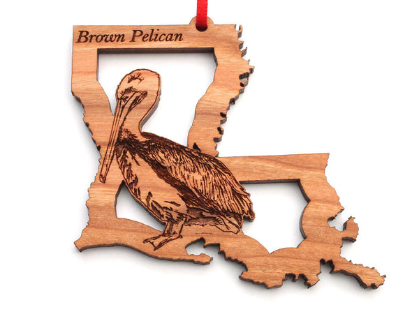 Louisiana State Bird Ornament - Brown Pelican