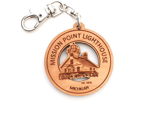 Mission Point Lighthouse Key Chain - Nestled Pines