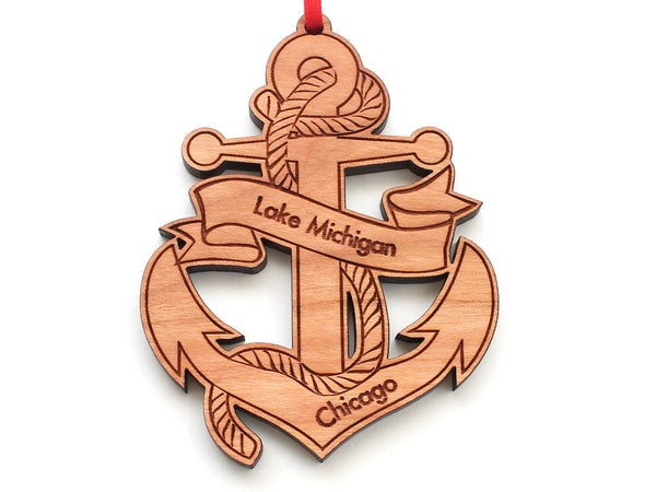 Lake Michigan Chicago Anchor Nautical Ornament
