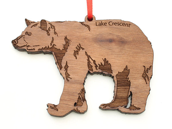 Olympic National Park Lake Crescent Black Bear Ornament