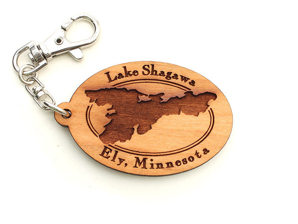 Mealey's Custom Lake Shagawa Key Chain - Nestled Pines