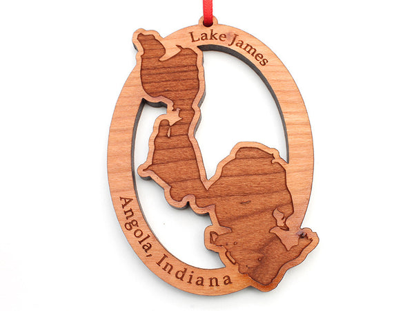 City of Angola Lake James Custom Ornament - Nestled Pines