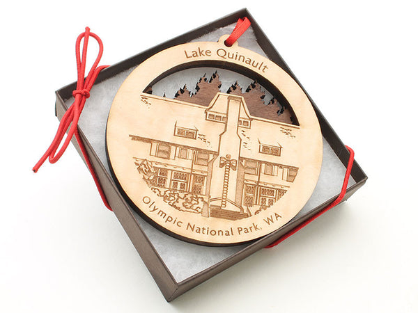 Olympic National Park Lake Quinault Lodge Double Ornament