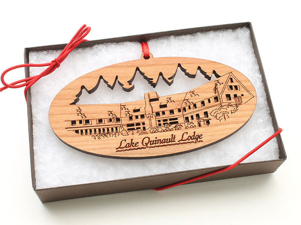 Olympic National Park Lake Quinault Lodge Ornament Gift Box