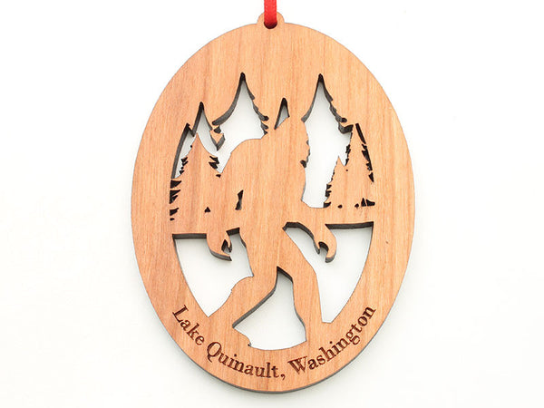 Olympic National Park Lake Quinault Sasquatch Ornament
