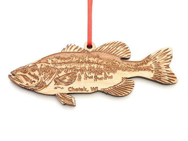 Lucky Day Largemouth Bass Ornament ND - Nestled Pines
