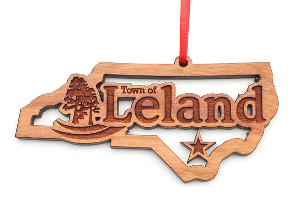 Leland North Carolina State Insert Ornament - Nestled Pines