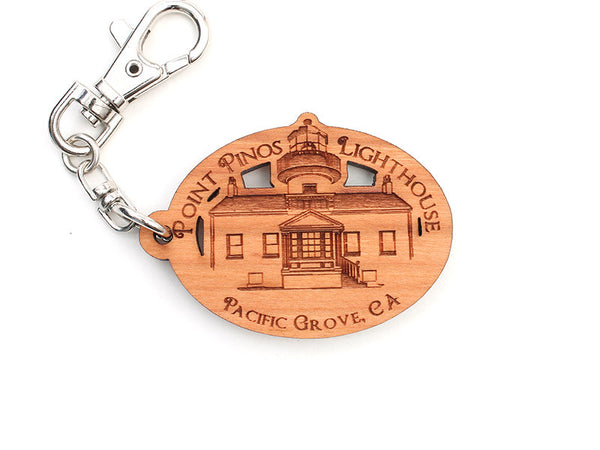 Point Pinos Lighthouse Key Chain - Nestled Pines