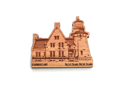 Block Island South East Light Magnet - Nestled Pines