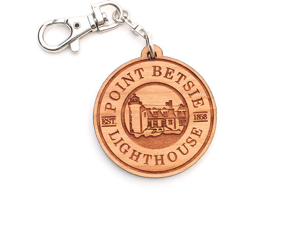 Point Betsie Lighthouse Custom Logo Key Chain - Nestled Pines