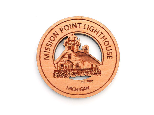 Mission Point Lighthouse Magnet - Nestled Pines