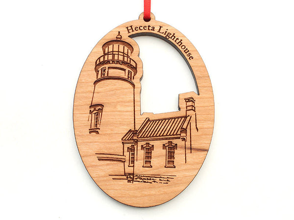 Heceta Lighthouse Oval Ornament