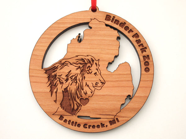 Binder Park Zoo Michigan State Lion Ornament (LP Only)