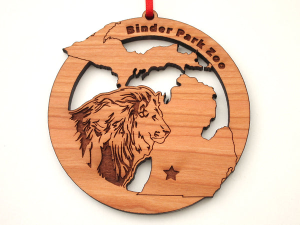 Binder Park Zoo Michigan State Lion Ornament