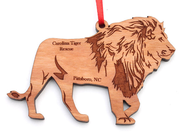 Carolina Tiger Rescue Lion Ornament