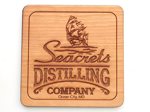Seacrets Distilling Company Logo Coaster (Set of 4)