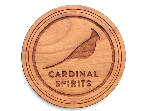 Cardinal Spirits Logo Circle Coaster (Set of 4)