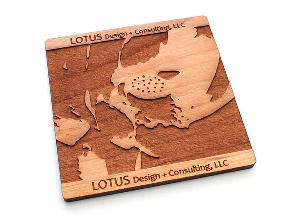 Lotus Logo Coaster Alt 2 - Nestled Pines