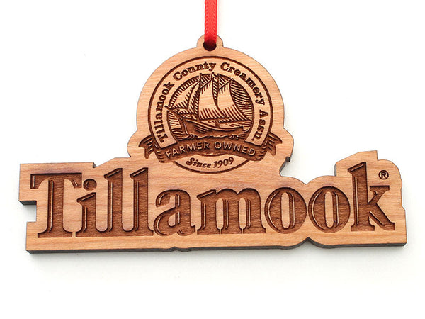 Tillamook Logo Cut Out Ornament