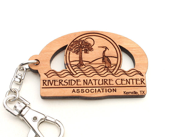 Riverside Nature Center Logo Key Chain
