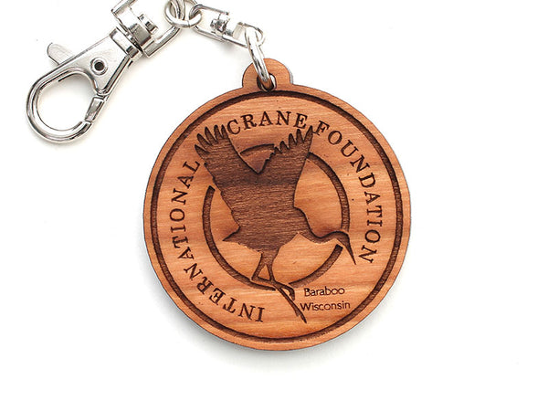 International Crane Foundation Logo Key Chain