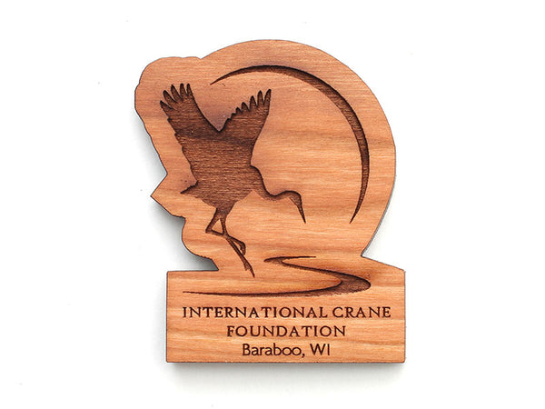 International Crane Foundation Logo Magnet