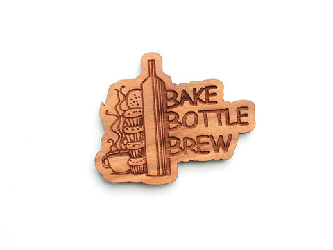 Bake Bottle Brew Logo Magnet - Nestled Pines