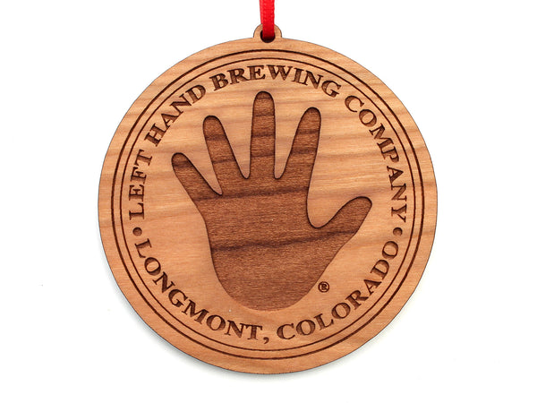 Left Hand Brewing Company Logo Ornament Circle