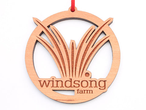 Windsong Farm Custom Logo Ornament - Nestled Pines
