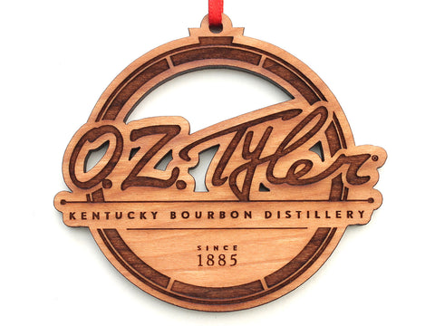 O.Z. Tyler Kentucky Bourbon Distillery Logo Ornament