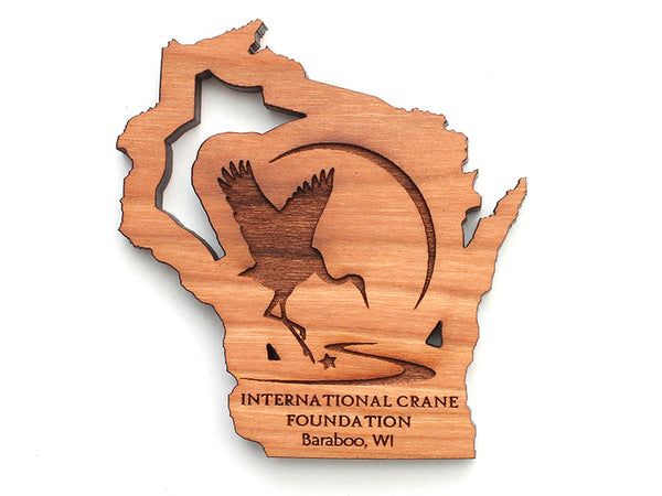 International Crane Foundation Wisconsin State Logo Insert Magnet