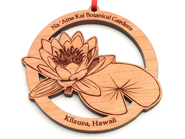 Na 'Aina Kai Botanical Gardens Lotus Flower Alt Ornament