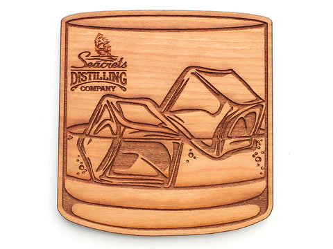 Seacrets Distilling Company Lowball Rocks Coaster (Set of 4)