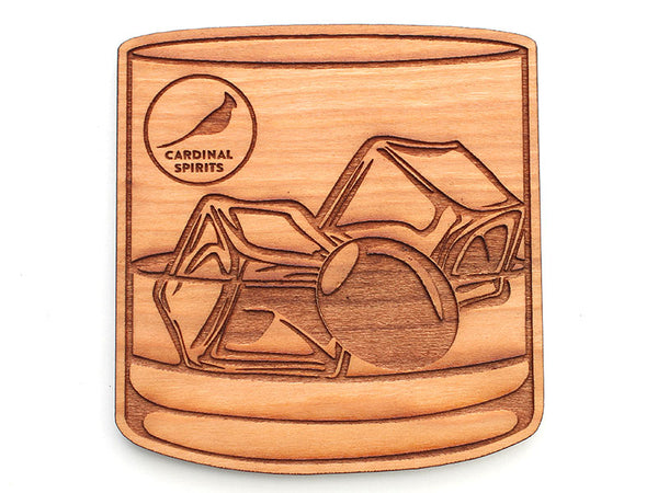 Cardinal Spirits Lowball Rocks Coaster (Set of 4)