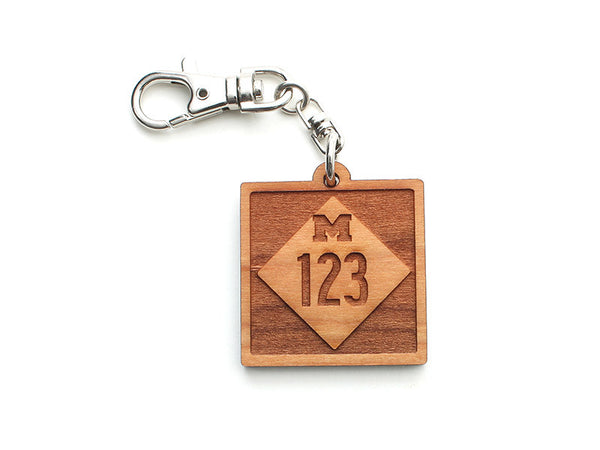 M-123 Custom Wood Key Chain - Nestled Pines