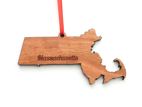 Massachusetts State Ornament - Nestled Pines - 2