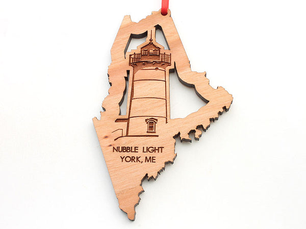 Nubble Lighthouse Maine State Shape Lighthouse Insert Ornament