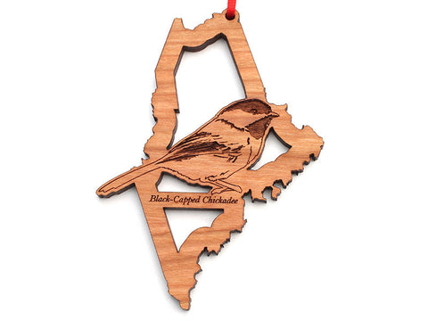 Maine State Bird Ornament - Black-capped Chickadee