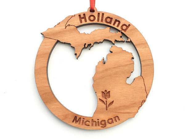 Home & Co Holland Michigan Custom Ornament Alt - Nestled Pines
