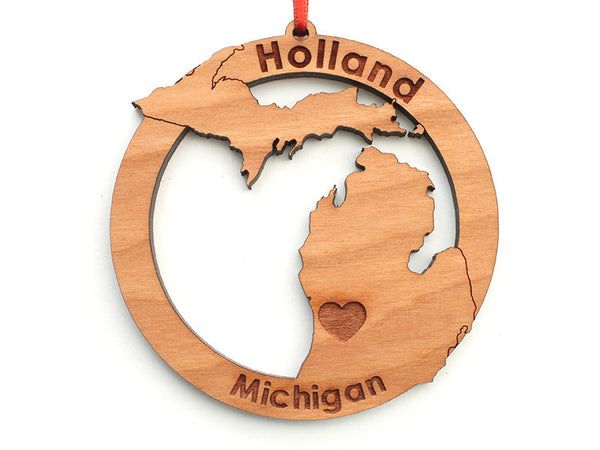 Home & Co Holland Michigan Custom Ornament - Nestled Pines