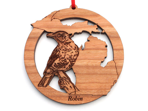 Michigan State Bird Ornament - Robin