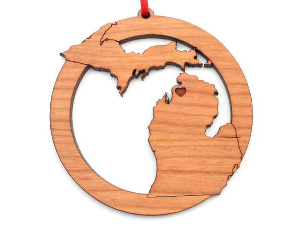 Ciao Bella Michigan State With Heart Ornament - Nestled Pines
