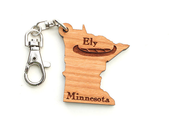 Mealey's Custom Engraved Minnesota Key Chain - Nestled Pines