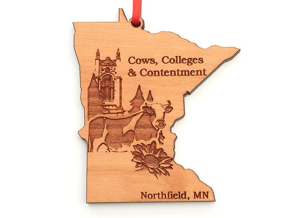 Swag Cows Colleges Contentment Minnesota Custom State Ornament - Nestled Pines